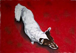 A dog. Pastels on paper. 60x40cm