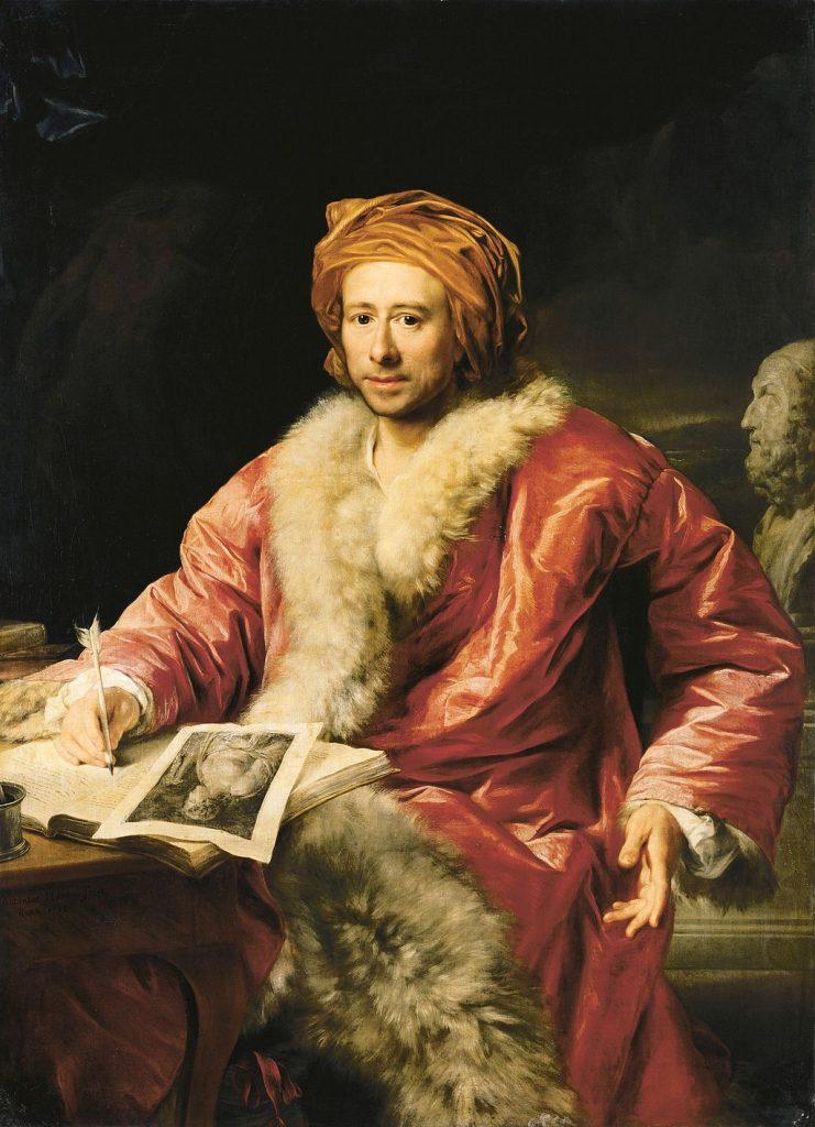 Portrait by Anton von Maron, 1768
