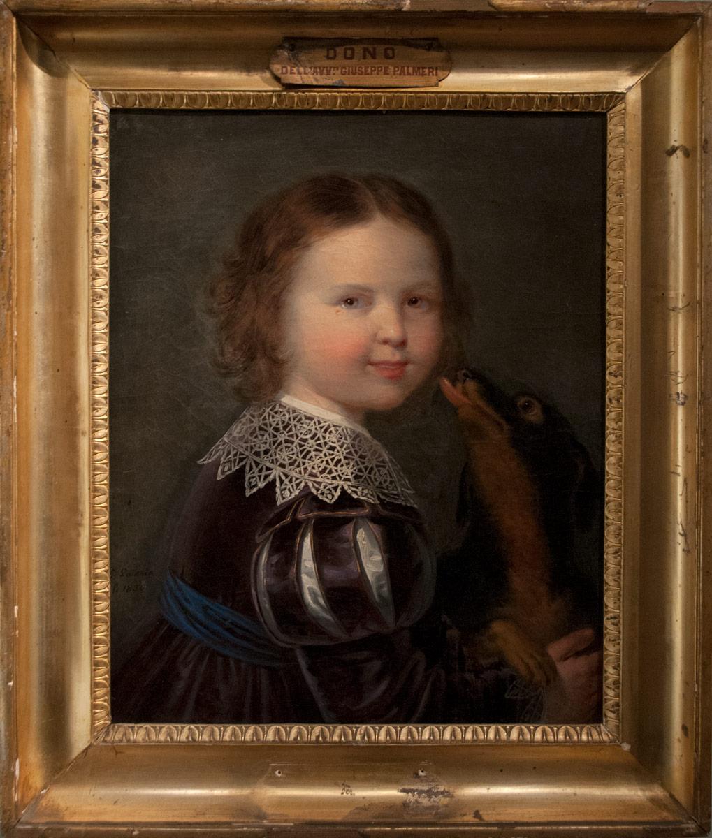 Giuseppe Patania - Ritratto di fanciullo con cane