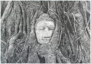 Ayutthaya. Pencil on paper. 70x50cm